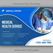 بنر لایه باز طرح پزشکی و بهداشت